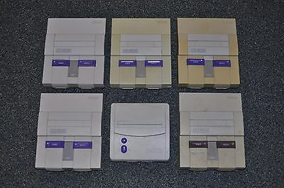 Lot of 6 SNES Super Nintendo Consoles SOLD AS IS FOR PARTS Free Shipping