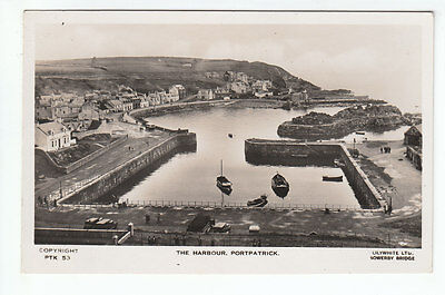 The Harbour Portpatrick Wigtown c1930 Real Photograph Lilywhite Brighouse Old PC