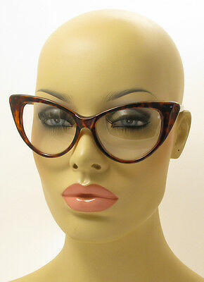 Spotted Cat Eye Havanna Brown Tortoise Nikita Glasses Eyeglasses Clear Lens