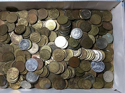 340+ MIXED LOT OF TOKENS ARCADE & MORE 1960s-1980s #t6a