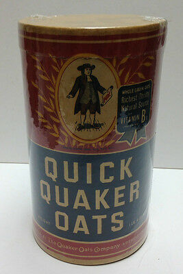 Vintage 1920's Quick Quaker Oats Cereal 1 Pound Box Package Grocery