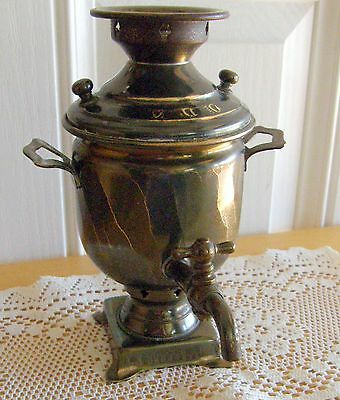Antique Minature Russian Samovar With Hallmarks As Found Rarity Complete