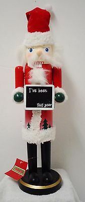 "Nutcracker (Holiday Home) 16"" high (new with tag) Christmas (Wooden)"
