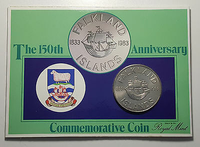 FALKLAND ISLANDS 1983 150th ANNIVERSARY 50 PENCE CROWN ROYAL MINT PACK