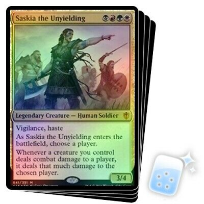 OVERSIZED FOIL SASKIA THE UNYIELDING X4 Commander 2016 Magic MTG MINT CARD