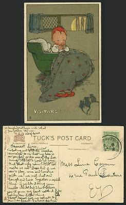MABEL LUCIE ATTWELL 1912 Tuck's Postcard Mice VISITORS!