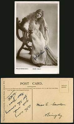 Actress Miss MAUDE FEALY Antique Chair Old Real Photo Postcard Charles G. Signed