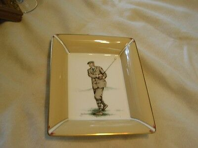 Daniel Hechter  St Andrews Bone China Dish Tray  Golfer