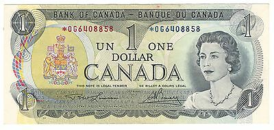 2x Canada 1973 $1 Banknote Lawson-Bouey *OG 2 in Sequence