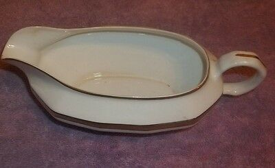 Edwin M Knowles Adams 18 K Gold OVERLAY Swag Gravy Bowl 21-3-10
