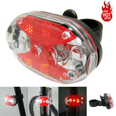 Waterproof 9 LED Bike Bicycle Safety Front Tail Light Lamp Back Rear Flashlight