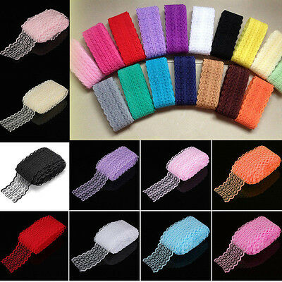 4.5CM 10 Yards Embroidered Net Bilateral Lace Trim Ribbon DIY Sewing Craft Dress
