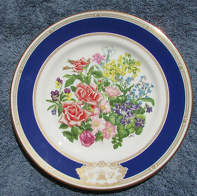 Stunning Royal Doulton Royal Wedding Bouquet Cabinet Plate Charles Diana