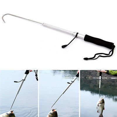 70CM Durable Telescopic Retractable Fish Gaff Ice Sea Fishing Spear Hook Tackle