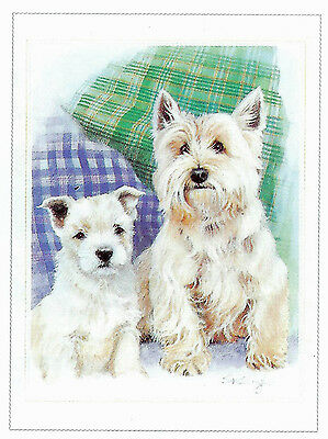 West Highland  Terrier Art Print Mom and Pup