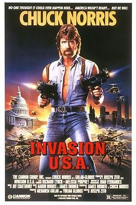 Invasion U.S.A. Folded Movie Poster 1985