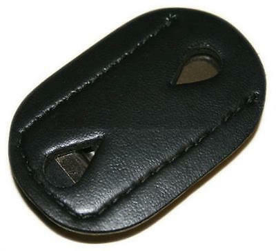 Safariland 7350-04-2 Plain Leather Clip-On Federal Style Badge Holder