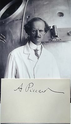Auguste Piccard Prominent Swiss Inventor, Explorer, Physicist Autograph 'Rare' .