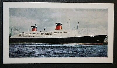 SS FRANCE  CGT  Liner     Illustrated Colour Card