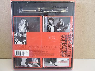 THE ROLLING STONES- Fan Gift Set - Pen, Notebook & Address Book *SEALED* BOXSET
