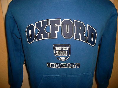vintage OXFORD UNIVERSITY Kapuzenpulli sweatshirt universität hoodie S