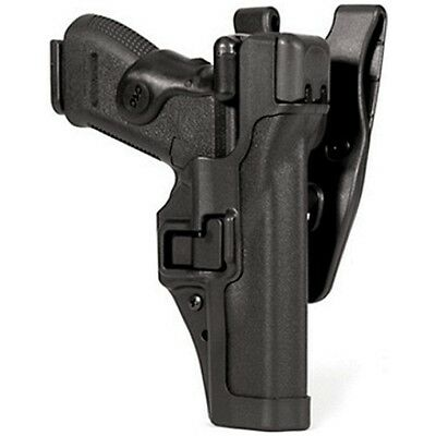Blackhawk 44H100BK-R Black Level 3 SERPA RH Duty Holster For Glock 17 19 22 23