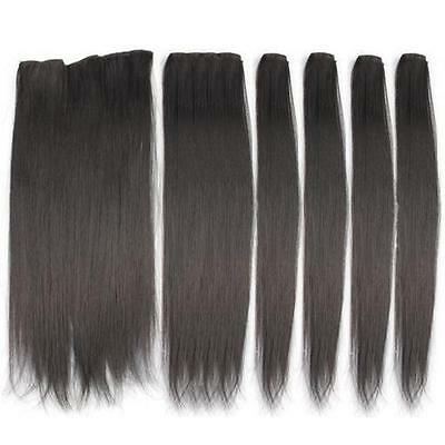 """6pcs 18"""" Luxury Deluxe Thick Clip In Remy Hair Extensions Real Human Hair Clip"""