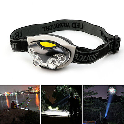 6 LED Lights 3 Modes Headlight Headlamp Flashlight Head Light Lamp Adjust Angle