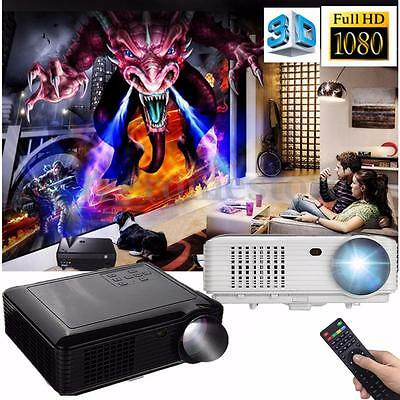 Full HD 1080P 5000 Lumens 3D LED Projector Home Cinema Theater Multimedia HDMI