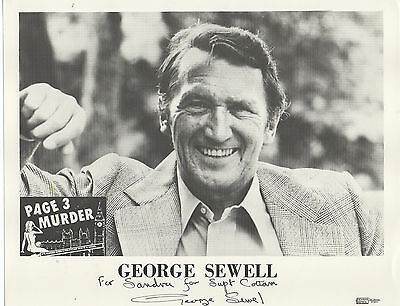 GEORGE SEWELL HAND SIGNED AUTOGRAPHED 8x10 PHOTO