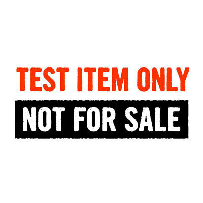 Test Listing Only - Do Not Buy