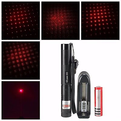 Laser Pointer Kits 532nm 1mw Red Light Pen Beam + 18650 Battery + Charger New
