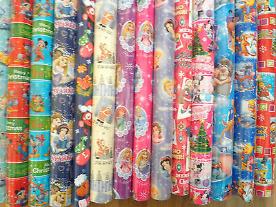 3,4,5,6 Metre Roll TV/FILM CHARACTER  Disney, Marvel , Christmas Wrapping Paper
