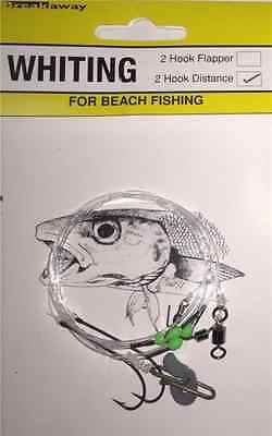 NEW Breakaway Sea Fishing Tackle 2 Hook Distance Whiting Rig