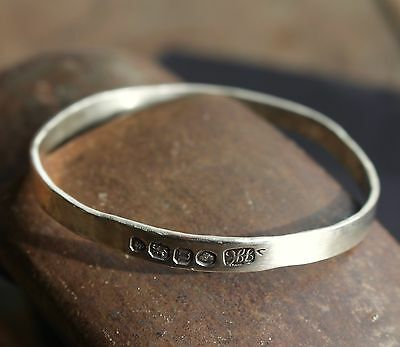 WILLIAM IV 1835 SOLID STERLING SILVER HALLMARKED BANGLE UPCYCLED London Maker