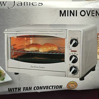ANDREW JAMES QF TO18LAWH MINI OVEN & GRILL WITH 1HR TIMER, WHITE (n)