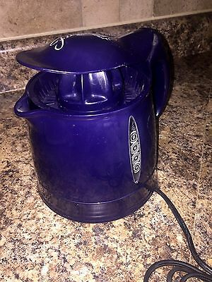FIESTA Purple Blue Cobalt CITURS JUICER Orange Lemon Fiestaware WORKS GREAT EUC