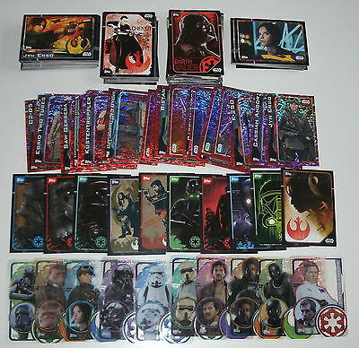 Topps Star Wars Rogue One - Komplettes Set alle 212 Karten