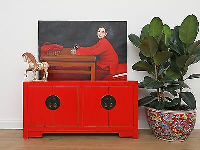Chinese sideboard solid wood TV table chest of drawers 100x50x28