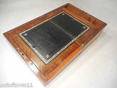 Antique Walnut Writing Slope  Box ,   ref 2294