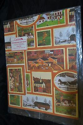 Vintage 80's Current Inc COUNTRYSIDES Gift Wrap  Sealed! CHURCH WEATHERVANE