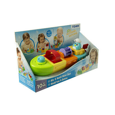 E72453 TOMY Mix & Match Motor Boat Bath Toy Baby Infant Toddler Age 10 Months+