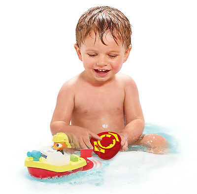 E72425 TOMY Remote Rescue Boat Bath Toy with Sound Baby Infant Toddler Age 12m+