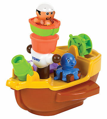 E71602 TOMY Pirate Ship Bath Toy with Squirters Baby Infant Toddler 18 Months+