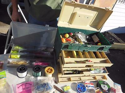 Plano Fishing Tackle Box  5757 + Lures Fly Gear Spinners String Weights ++