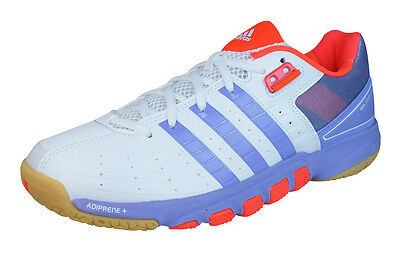adidas Quickforce 7 Womens Badminton Trainers / Shoes - White