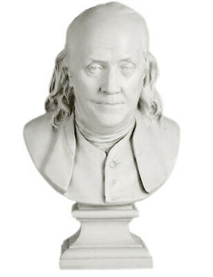 """Franklin Bust by Houdon 23"""" Museum Sculpture Replica Reproduction"""