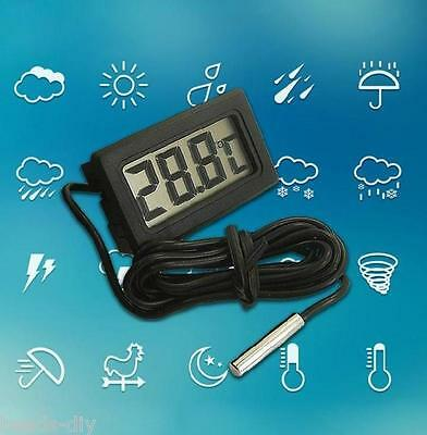 LCD Digital Fish Aquarium Water Tank Temperature Waterproof Thermometer Meter