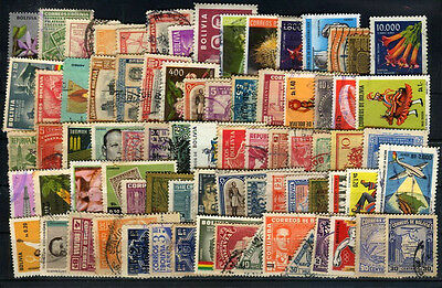 BOLIVIA lot 76 different stamps