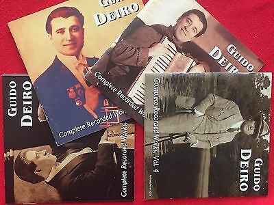 Complete Recorded Works of Guido Deiro, Vols. 1-4, Vaudeville Accordion Music